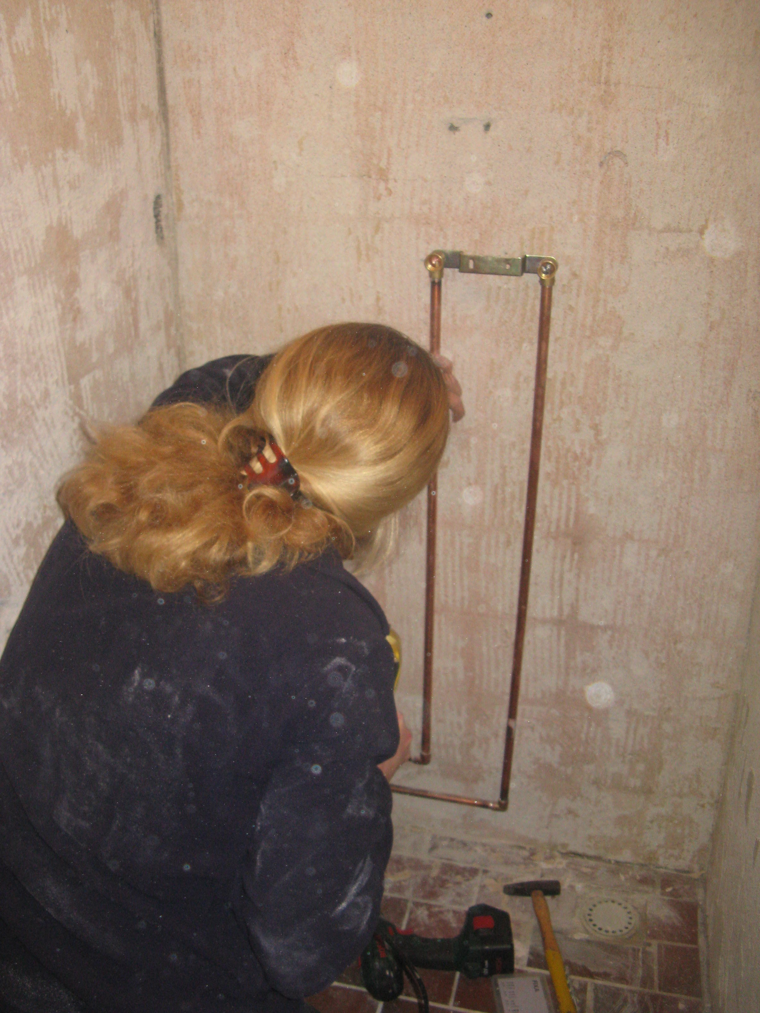 Nicole bouwt een inloopdouche