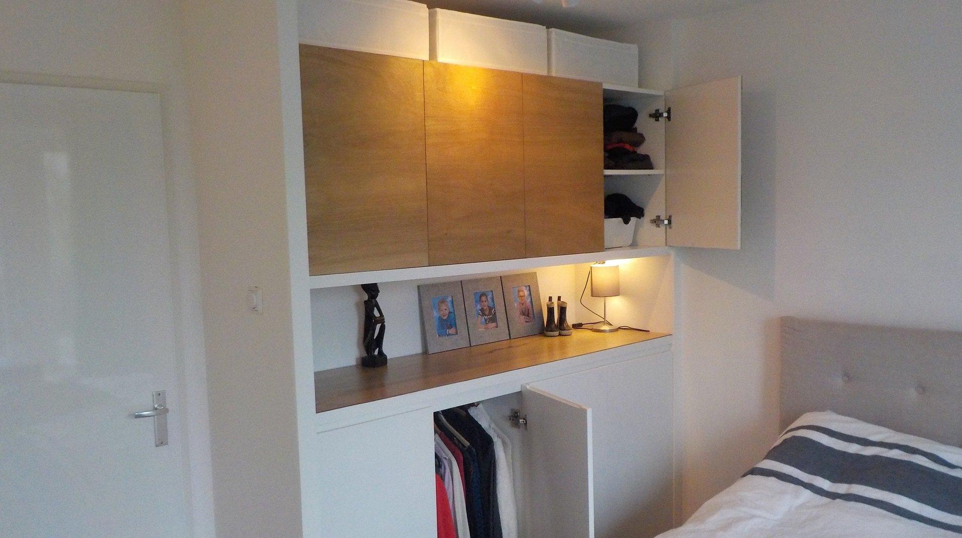 Elegant cool kledingkast gebouwd door klusvrouw nicole for Eigen huis en tuin kast maken