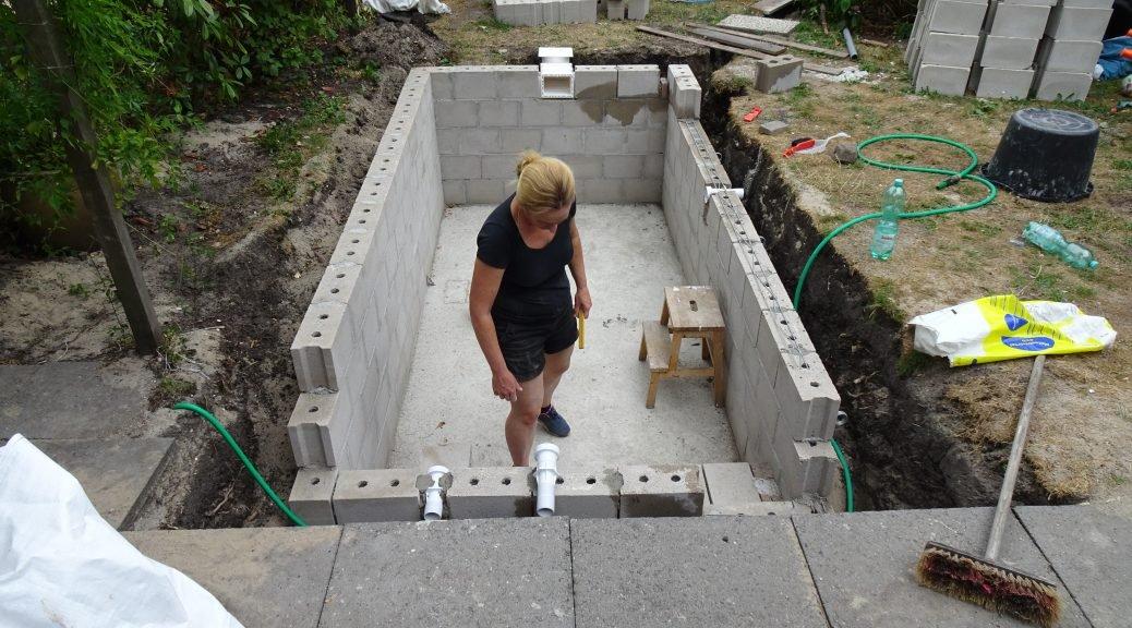 Betonnen muren bouwen