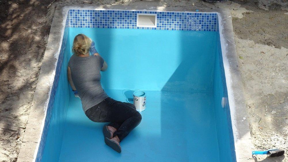 Zwembad verven