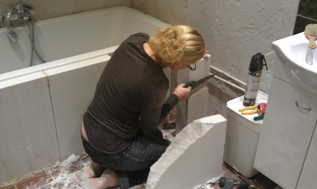 Badkamer bouwen door Nicole Prins