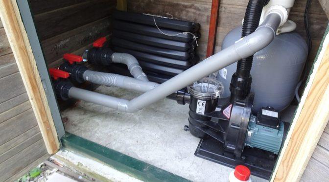 Zwembadpomp en filter installeren